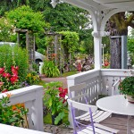 Pension und Ferienwohnung - Blick Balkon zum Hof Kastanienhof
