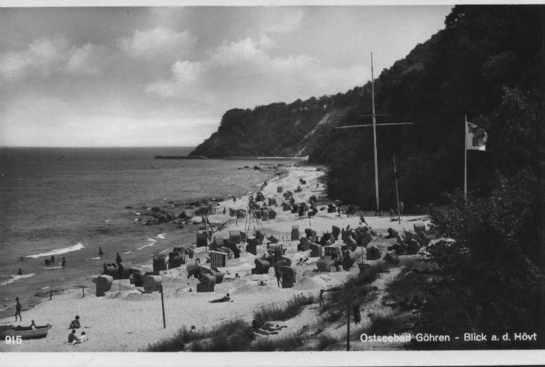 Nordstrand Göhren Richtung Hövt - historisches Bild