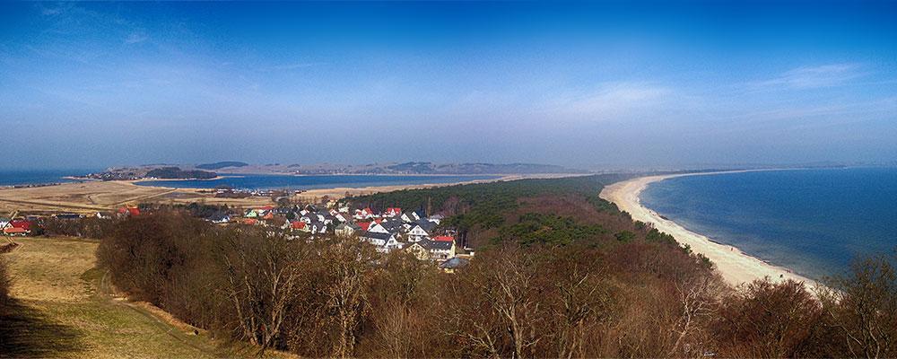 Blick vom Lotsenturm - Thiessow auf Rügen