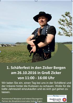1. Schäferfest in den Zicker Bergen